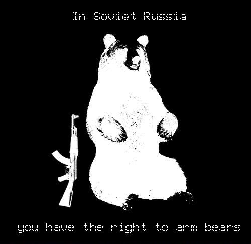 in soviet russia, bear pun, right to arm bears
