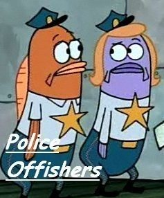 police offishers, officers, fish pun