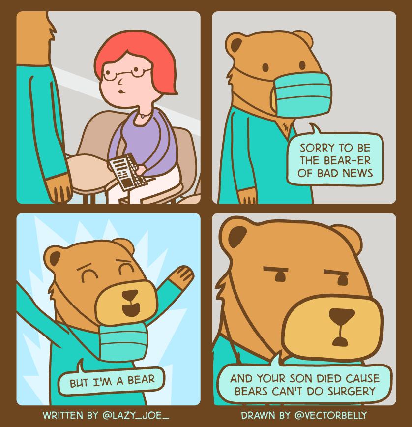 bear puns comic