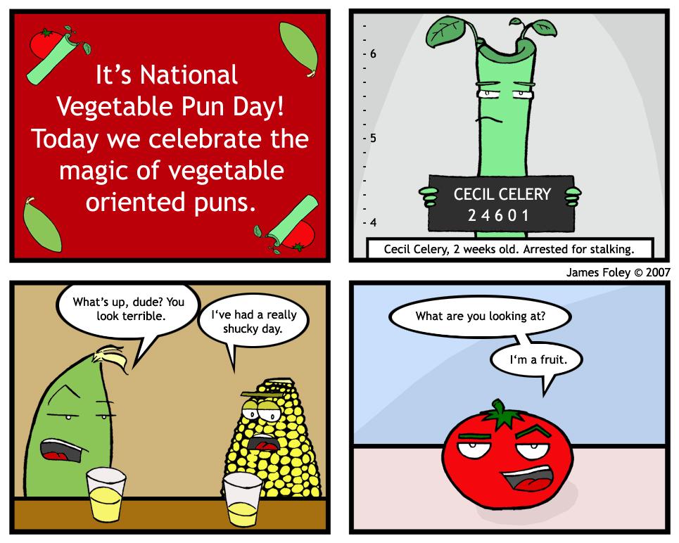 Vegetable Puns – Punpedia