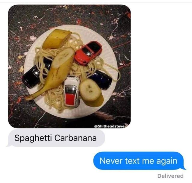 carbonara food pun